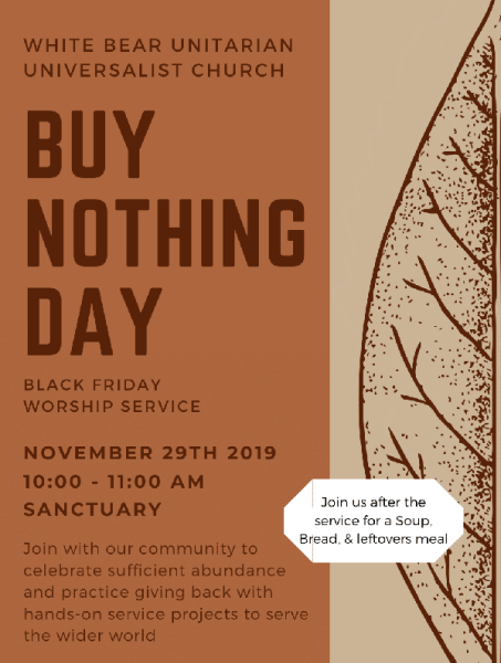 Buy Nothing Day 2019 w meal